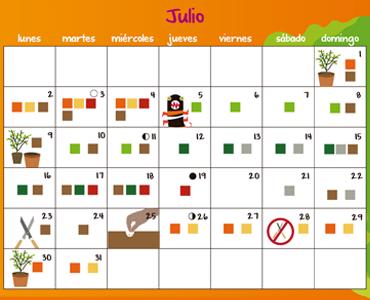 Calendario de huertos